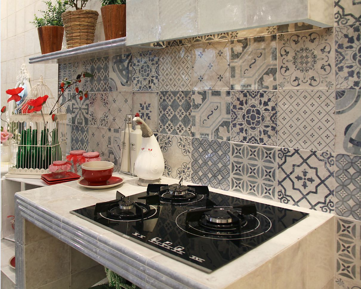 patterned kitchen wall tiles azulejos r 250 sticos en m 225 laga mainzu marazzi 4107